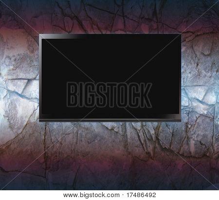 Flachbildschirm an der Wand
