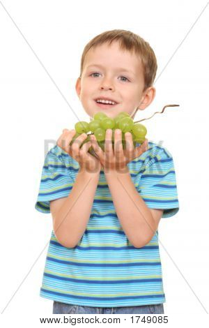 Boy And Grapes