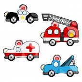 stock photo of fire truck  - emergency vehicles vector - JPG