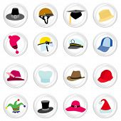 foto of chefs hat  - hat with button set - JPG