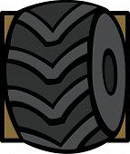 picture of monster-truck  - monster truck tire - JPG