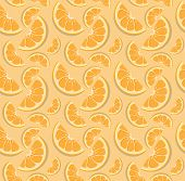 Vector Orange Pattern. poster