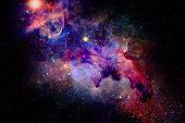 Nebula And Stars In Deep Space, Mysterious Universe. poster