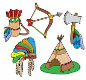 stock photo of tipi  - Indian collection - JPG