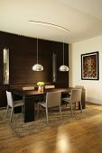 interior of a modern dining room
