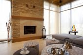 fireplace i modern living room