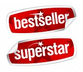 foto of superstars  - Bestseller and superstar stickers set - JPG