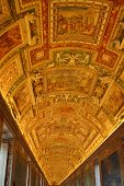 Golden Ceiling At Musei Vaticani