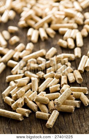the wooden pellet. ecological heating