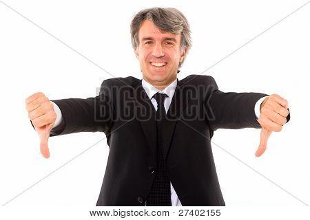 Businessman Thumbs Down