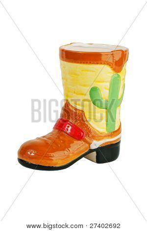 Taza de cerámica en forma de botas