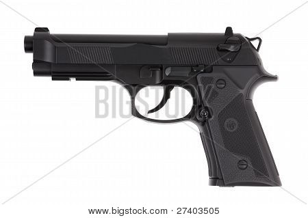 Preta Metal pistola com gatilho