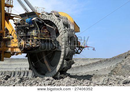 Detail Of Mining Wheel In Brown Coal Mine
