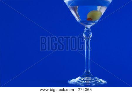 Martini On Blue Background