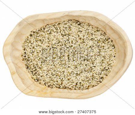 Sementes de cânhamo com casca