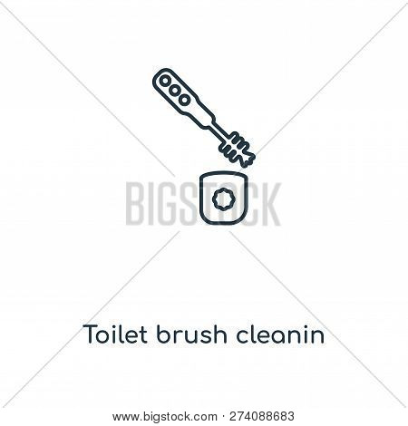 Toilet Brush Cleanin Icon In