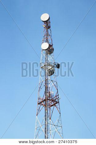 Telecom Tower And Blue Sky