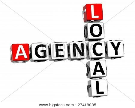 3D Local Agency Crossword