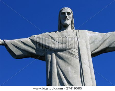 RIO DE JANEIRO - JULY 16:  Christ the Redeemer, located on top of Corcovado, Rio's highest mountain at approximately 2,330 feet above sea level, is shown July 16, 2005 in Rio de Janeiro, Brazil.