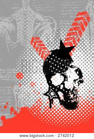 Grungy Vector Skull