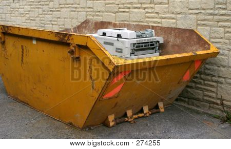 Copier In Dumpster