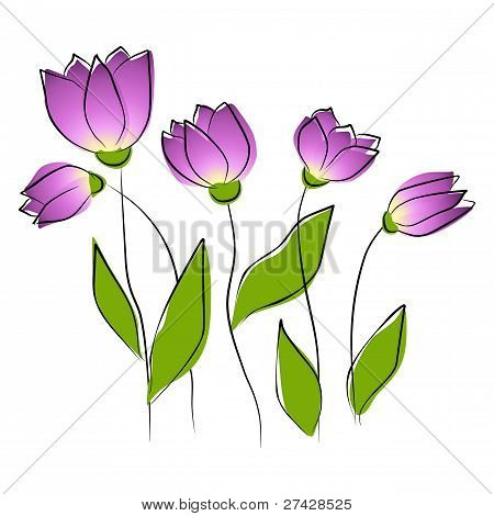 Flowers - purple tulips