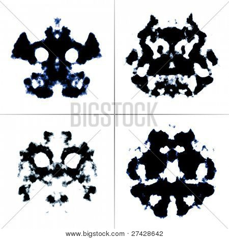 An image of the Rorschach test ink blots