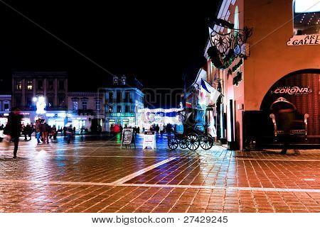 Night scene from Piata Sfatului, Brasov