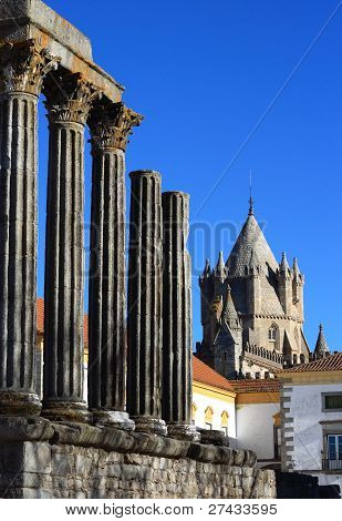 Portugal Evora Temple of Diana