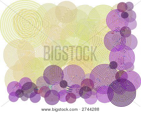 Remolino púrpura amarillo frontera fondo