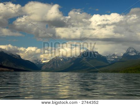Big Clouds On Mcdonald Lake Glacier National Park