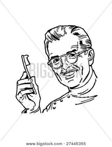 Dentist 2 - Retro Clipart Illustration