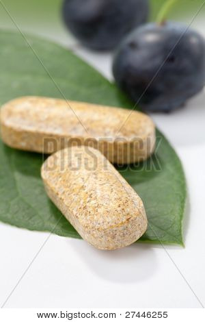 Bilberry Pills And Berries
