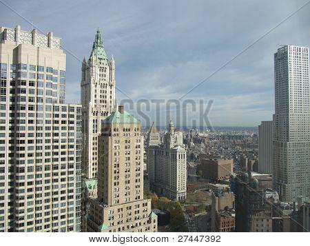 New York City landscape seen from Millenium Hilton