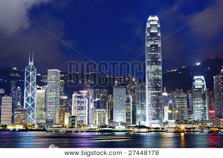 Hong Kong in der Nacht