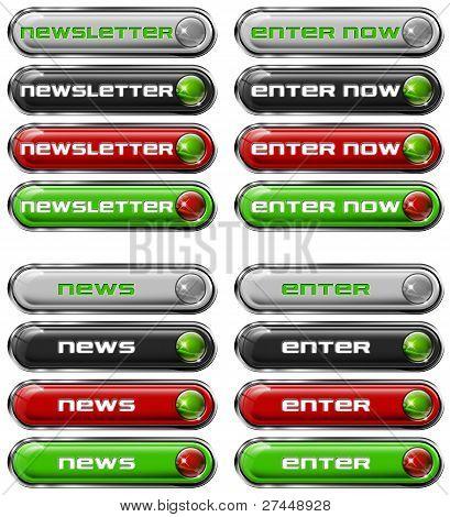 Set Web buttons n. 3