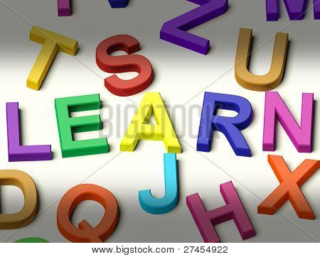Kids Letters Spelling Learn As Symbol For Study And Education