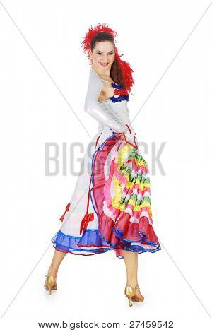 Woman dancing the cancan