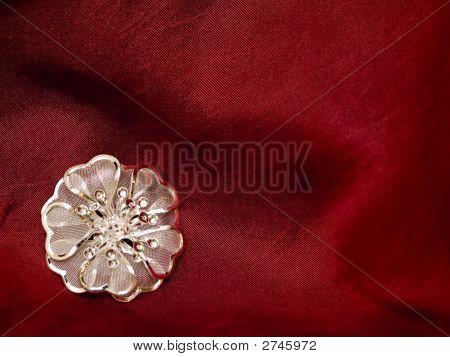 Broach Red Silk
