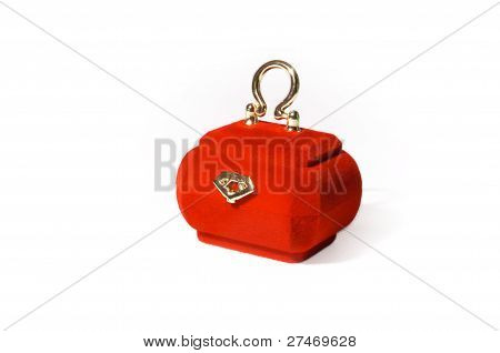Red Velvety Casket