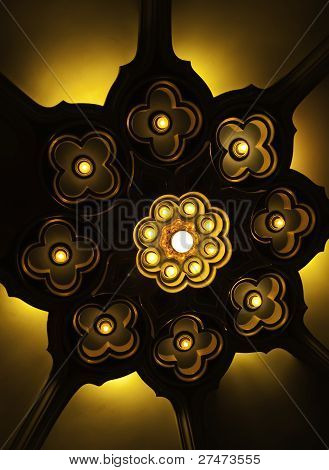 Lotus Light Ceiling At Erawan Museum