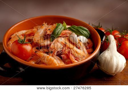 bowl of shrimp