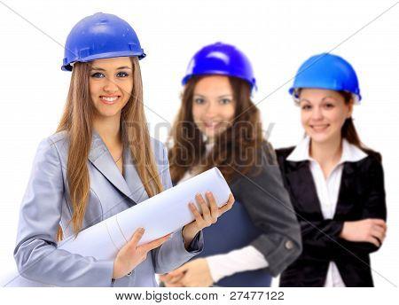 Three women architect team