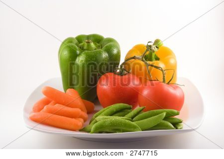 Healthy Snacks On White Plate