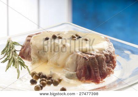 tenderloin with roquefort cream