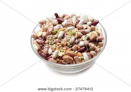 bowl of variety of legumes