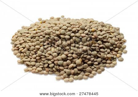 lentils on white