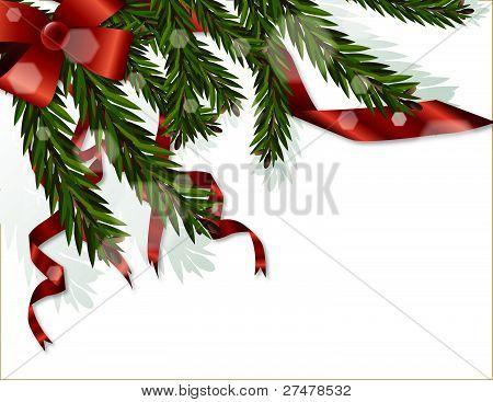 Xmas Tree Branches Vector