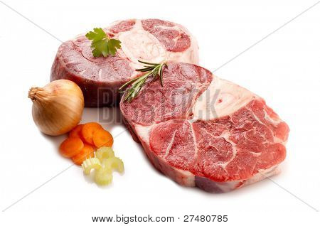 veal shank with ingredients