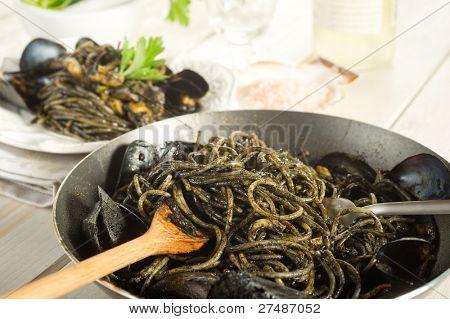 ink squid spaghetti